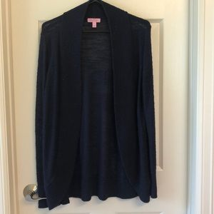 Lilly Pulitzer Navy Cardigan Size Large